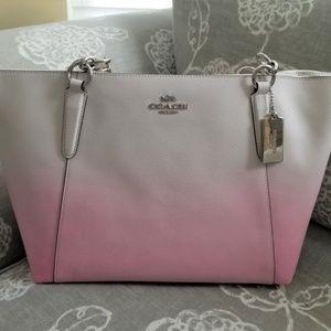 Coach Pink Multi Ombre Leather Ava Tote